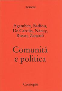 Comunità e politica COPERTINA.